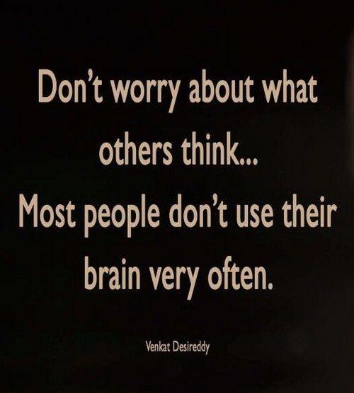 spreuk wat anderen denken