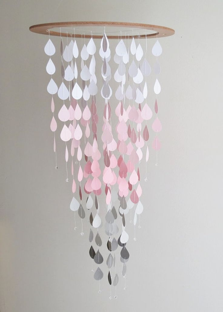 Pink Rain Mobile https://www.etsy.com/listing/247587143/pink-rain-mobile-pink-and-gray-ombrehome?ref=shop_home_listings