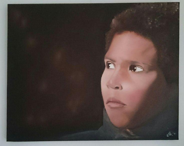 Darryl. Mijn eerste schilderij in olieverf