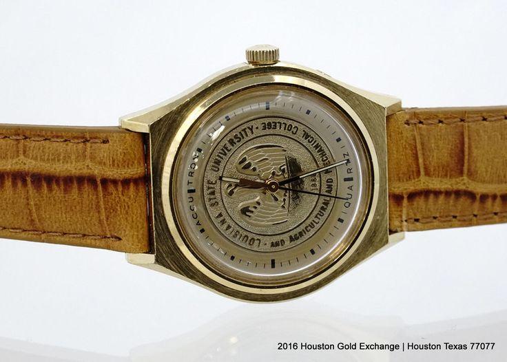 Bulova Accutron LSU college watch! Vintage! New Crystal in Jewelry & Watches, Watches, Wristwatches   eBay