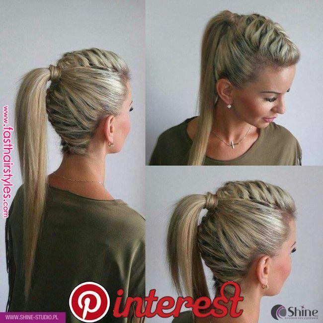 High hair high pin up braid – #braid #hair #high #pin #braid