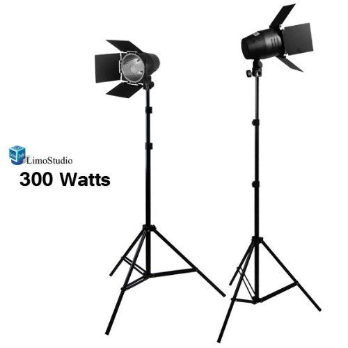 LimoStudio 2 Photography Photo Studio Lighting kit, Photo Video Light Barndoor Light with Dimmer Switch, LMS682 by LimoStudio. $65.21. (2) x 150W Continuous Lighting Photo Studio Barn Door Light Accent Background Light Accent Light Maximum Light Source Control Alters the Shape, Amount of the light output - Gives Greater Control over your umbrella light Facilitate Shaping of the beam of light from the fixture, and Prevent the distinctive scatter of light Can be used for Hard Dra...