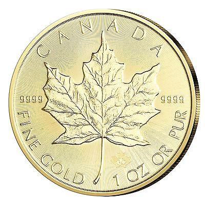 Goldmünze Maple Leaf 1oz - Gold aus Canada - Kanada 1 Unze aus  2016