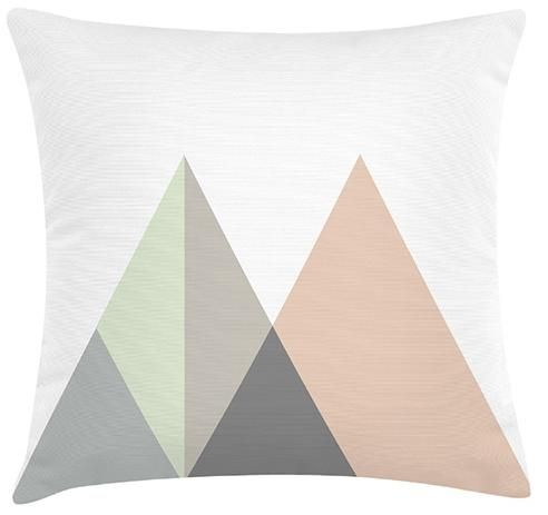 Pastel Mountains Cushion. 100% Organic Cotton and comes with a plush filler. Only $45 with Free Shipping!  http://www.stoolsandchairs.com.au/pastel-mountains-cushion/