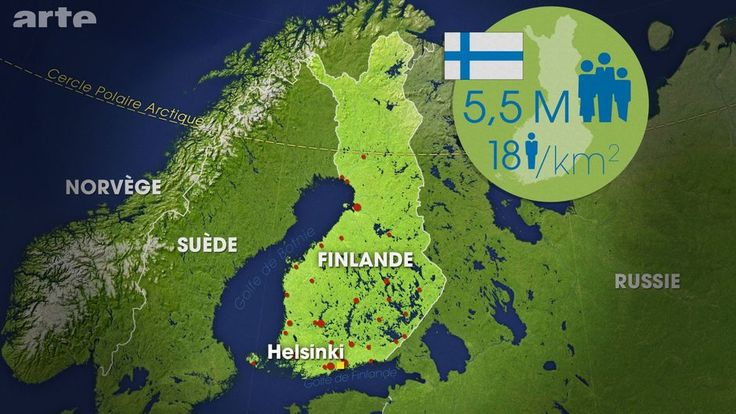 """En 2017, la Finlande fêtera le centenaire de son indépendance. Un anniversaire terni par des résultats économiques décevants et par la montée inquiétante de l'extrême droite. """"Le dessous des cartes"""" s'intéresse à ce pays, au carrefour de l'Europe et de la Russie, souvent cité en exemple pour sa qualité de vie et celle de son système éducatif."""