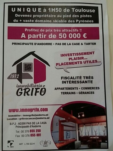 ImmoGrifo.com location et vente appartements Pas de Case en Andorre  #pasdelacase  #Andorre