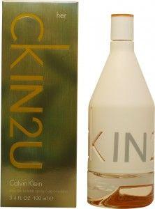CALVIN KLEIN CK IN2U HER EDT 100 ML é um artigo premium de CALVIN KLEIN(A primeira edição foi criada em 1978 e a mais recente é de 2015.). Na Essência do Perfume temos uma ampla selecção de Perfumes CALVIN KLEIN CK IN2U HER EDT 100 ML da melhor qualidade e ao melhor preço.