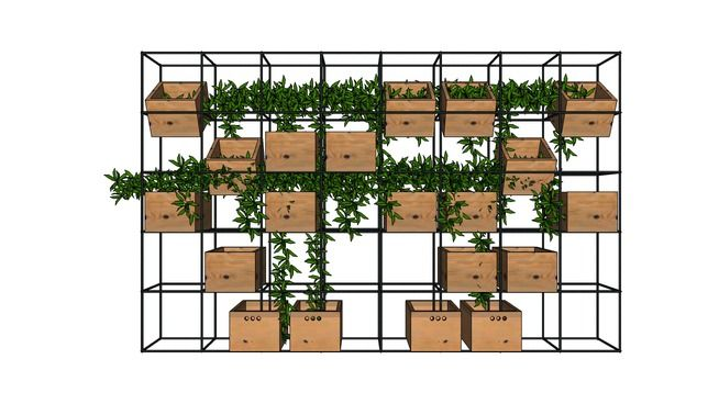Large preview of 3D Model of planter box