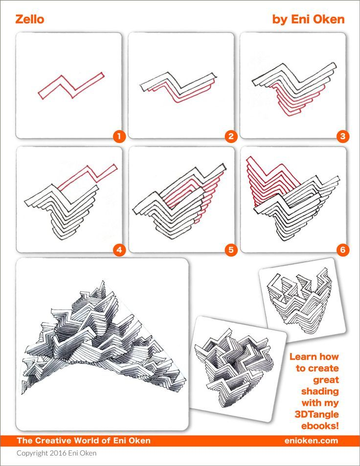 1183 Best Zentangle - Pattern steps / how to draw images ...