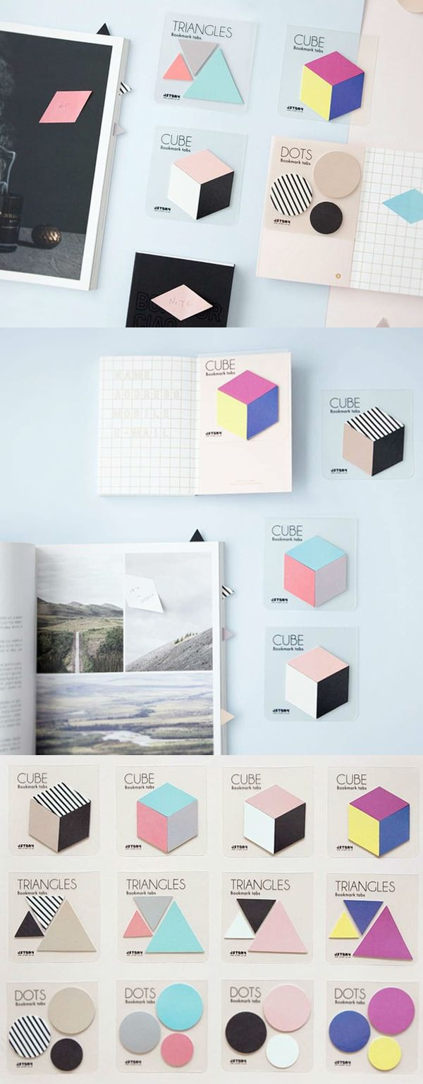 The Shape Index Sticky Note features basic geometric sticky notes. They are great to write memos and messages with, but with your creativity, they can become a wonderful decoration too!