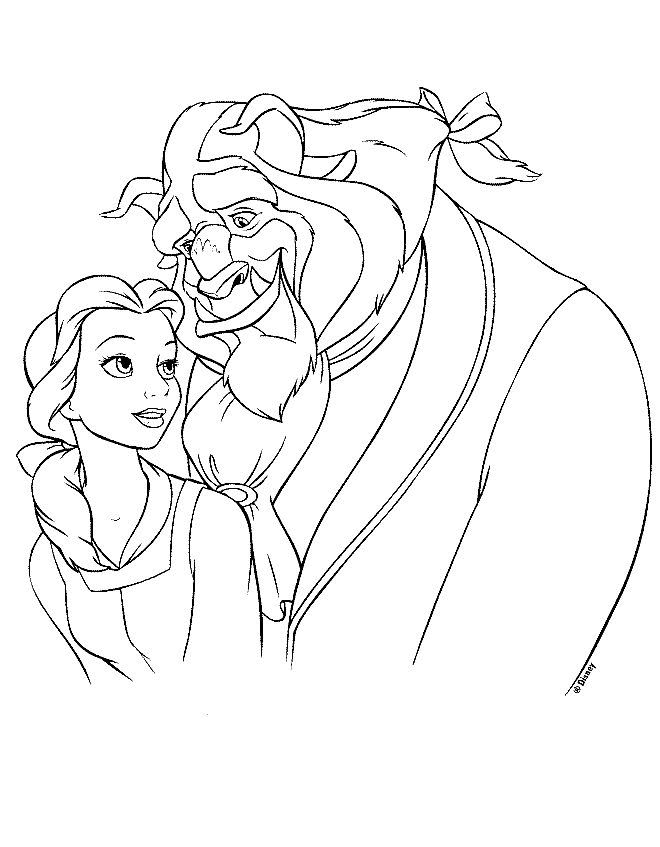 Beauty and the beast Coloring Pages (BEST site)