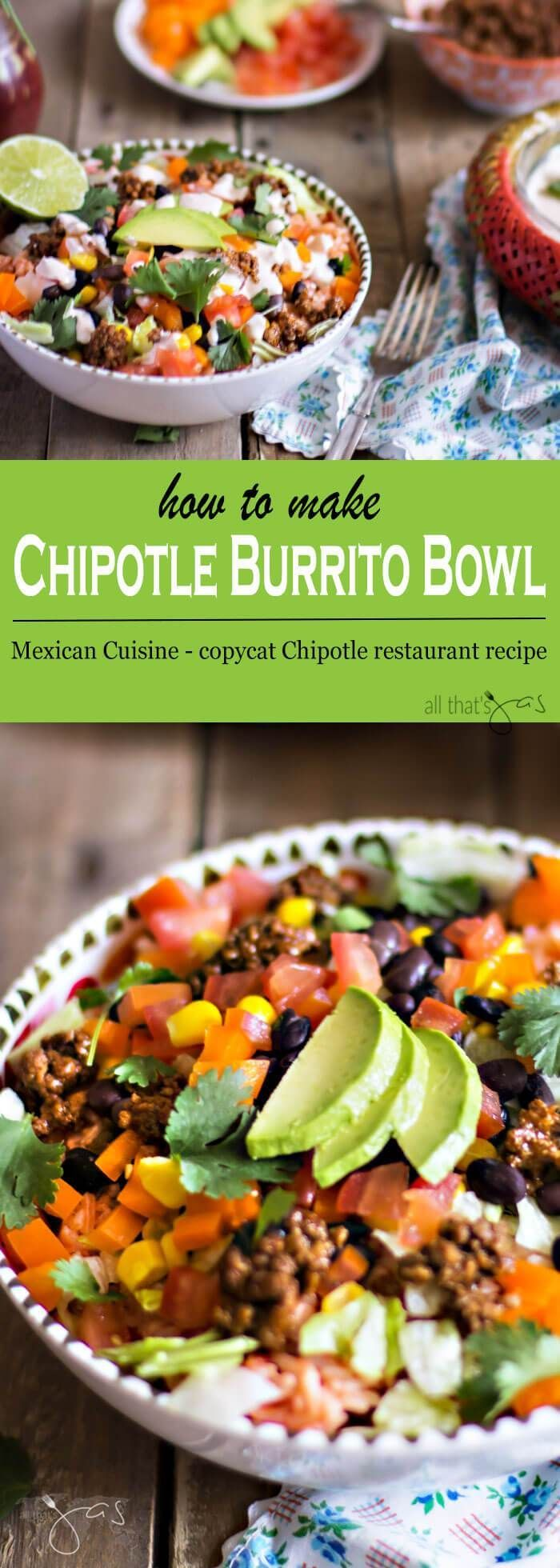 This easy and delicious copycat Mexican Chipotle burrito bowl recipe is a real crowd-pleaser.
