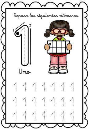 Grafomotricidad números del 1 al 10 gines -Orientacion Andujar