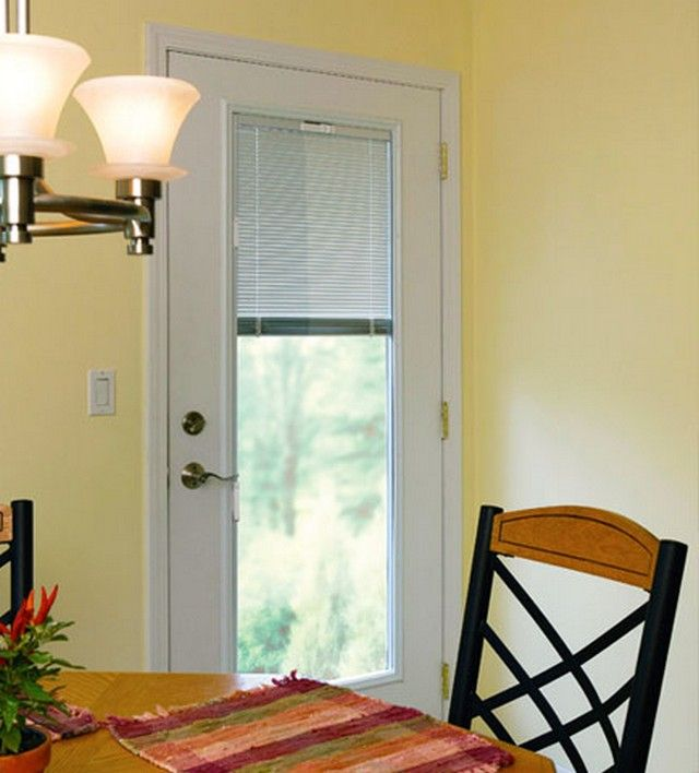 Single Patio Door With Blinds Between