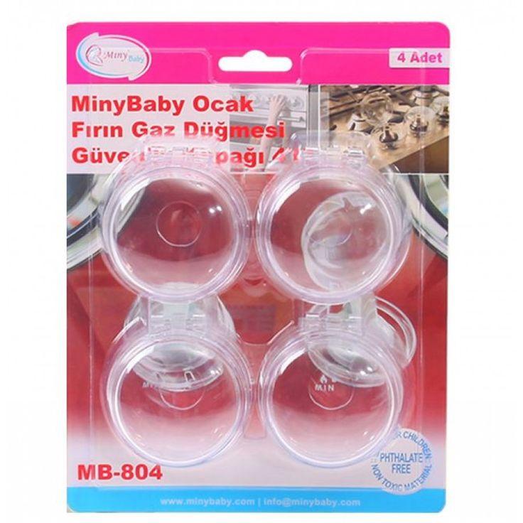 Miny Baby Fırın Gaz Düğmesi Güvenlik Kapağı 4'lü