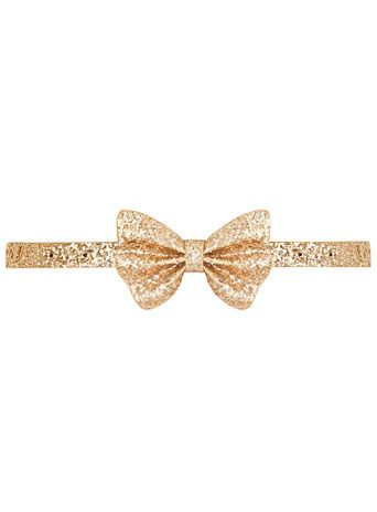Dorothy Perkins Gold glitter bow skinny belt    http://rstyle.me/~15a8Z