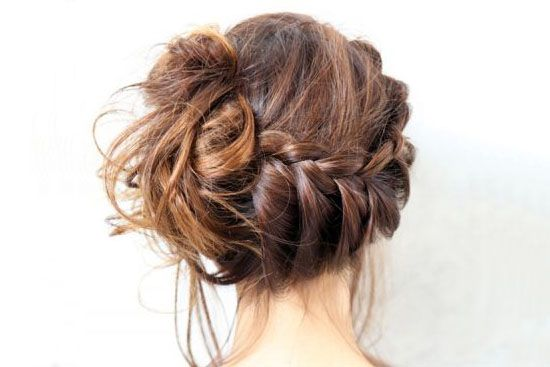10 fabulous braided hairstyle tutorials (love this braid to a messy bun one!)