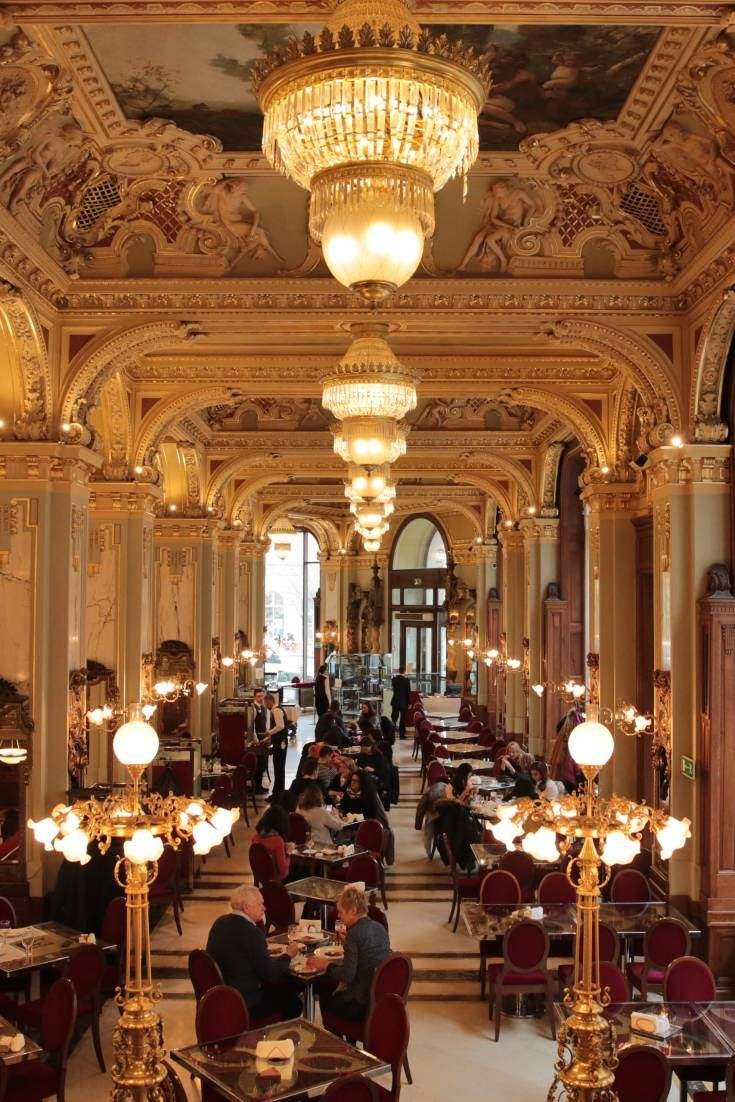 Turn of the century Europe is preserved in this lavish hotel café, where the woodwork, chandeliers, gold encrusted stuccoes, and marble almost seems excessive.