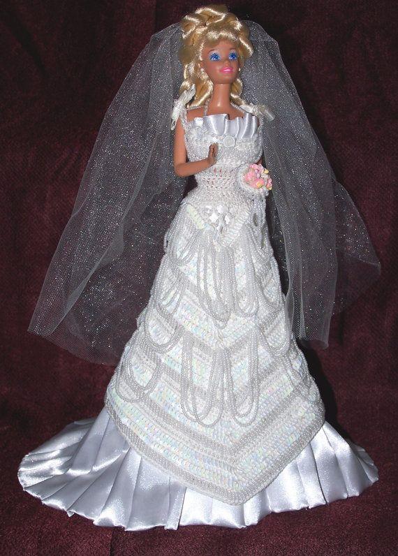 Robe de la mariée Barbie mariage robe avec voile par SunsetPainter