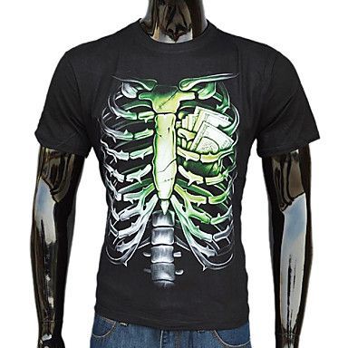 Hombres Estilo occidental Manga 3D corta camiseta – USD $ 11.19