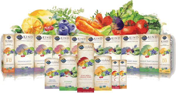 myKind Organic Vitamins by Garden Of Life - The First Whole Food Multivitamin Made from Real, Honest, Nutritious Foods