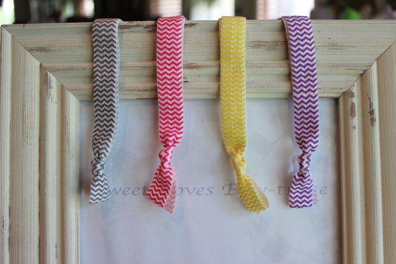 4 Chevron Woman's Headbands.  Elastic by SweetLovesBowtique