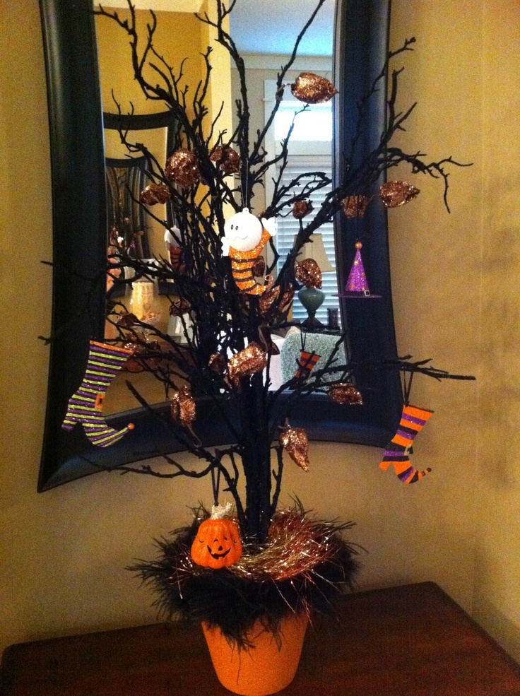 halloween tree less than 25 easy hobby lobby creation pier 1 imports ornaments my favorit. Black Bedroom Furniture Sets. Home Design Ideas