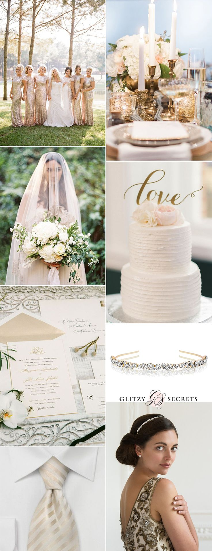 A touch of luxury with a cream and gold wedding theme. Regal and incedibly elegant, we are sure you will be swooning with this fabulous color combo