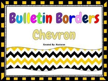 This pack contains 10 bulletin board borders in chevron theme.