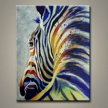 arts and crafts painting oil handmade zebra oil paintings wall papers modern abstract oil painting for interior decoration(China (Mainland))