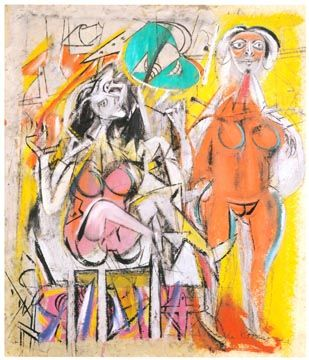 Willem de Kooning  Untitled, 1947  Oil on paper   20 x 16 inches  Private collection