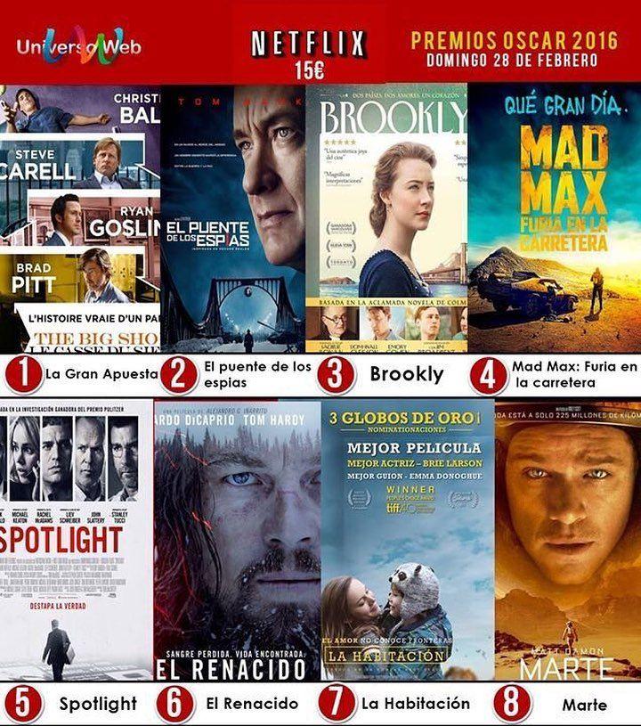 Elige la mejor película para los #Oscar2016 en http://ift.tt/1lB8fRQ y gana una suscripción de Netflix gratis! #torredelmar #oscar2016 #diseño #desing #sorteo #concurso