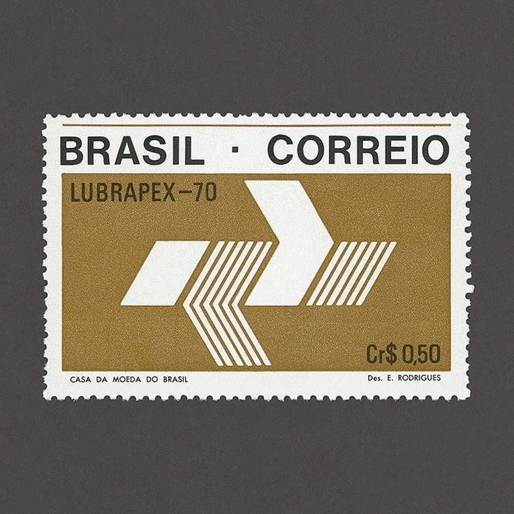 Lubrapex Stamp Exhibition. Brazil, 1970. Design: Eduardo J. Rodrigues