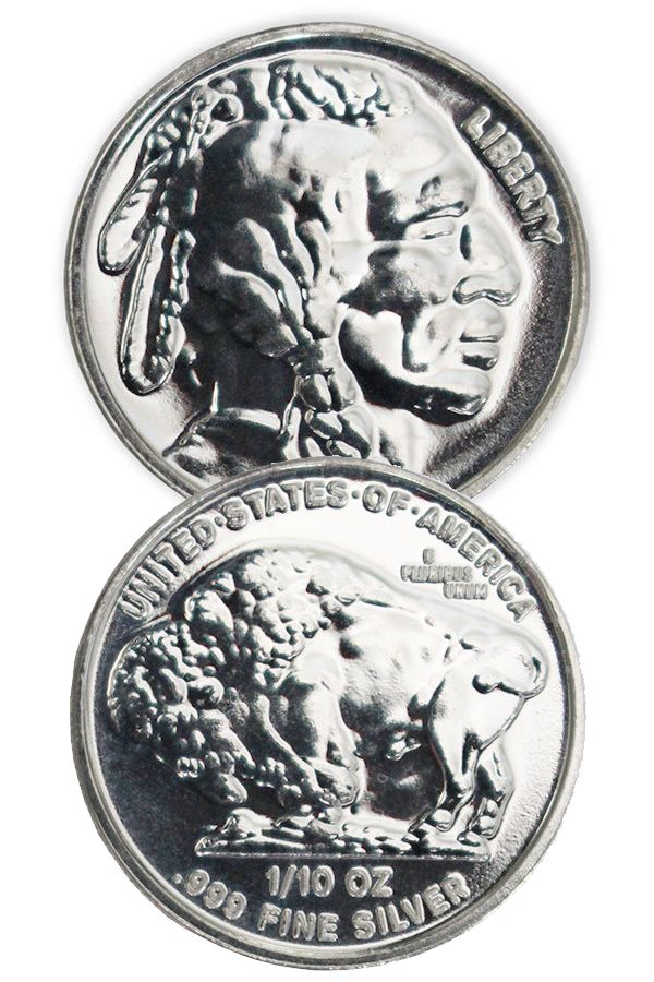 Buy 1 10 Oz Silver Buffalo Indian Head Rounds Money Metals In 2020 Silver Bullion Silver Investing Silver Eagle Coins