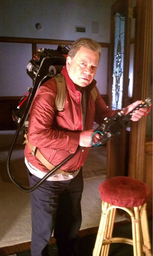 William Shatner Wearing a Proton Pack