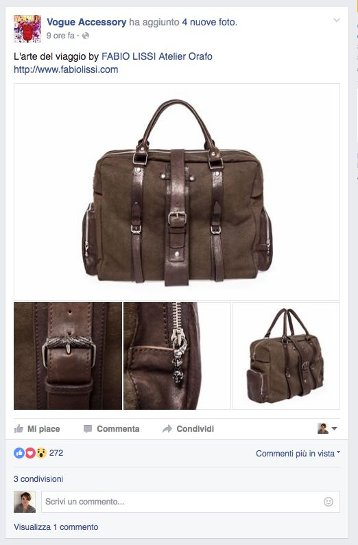 Fabio Lissi collection on @Vogue Accessory Facebook Page - New bags collection  for Fall and Winter 2016/17 PR&Press Office - www.valeriasartorio.com