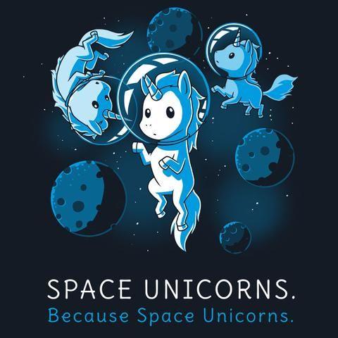 Space Unicorns T-Shirt TeeTurtle
