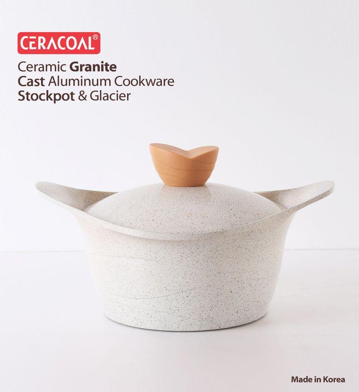 CERACOAL COOKWARE - Cast aluminum casserole for Granite ceramic coating