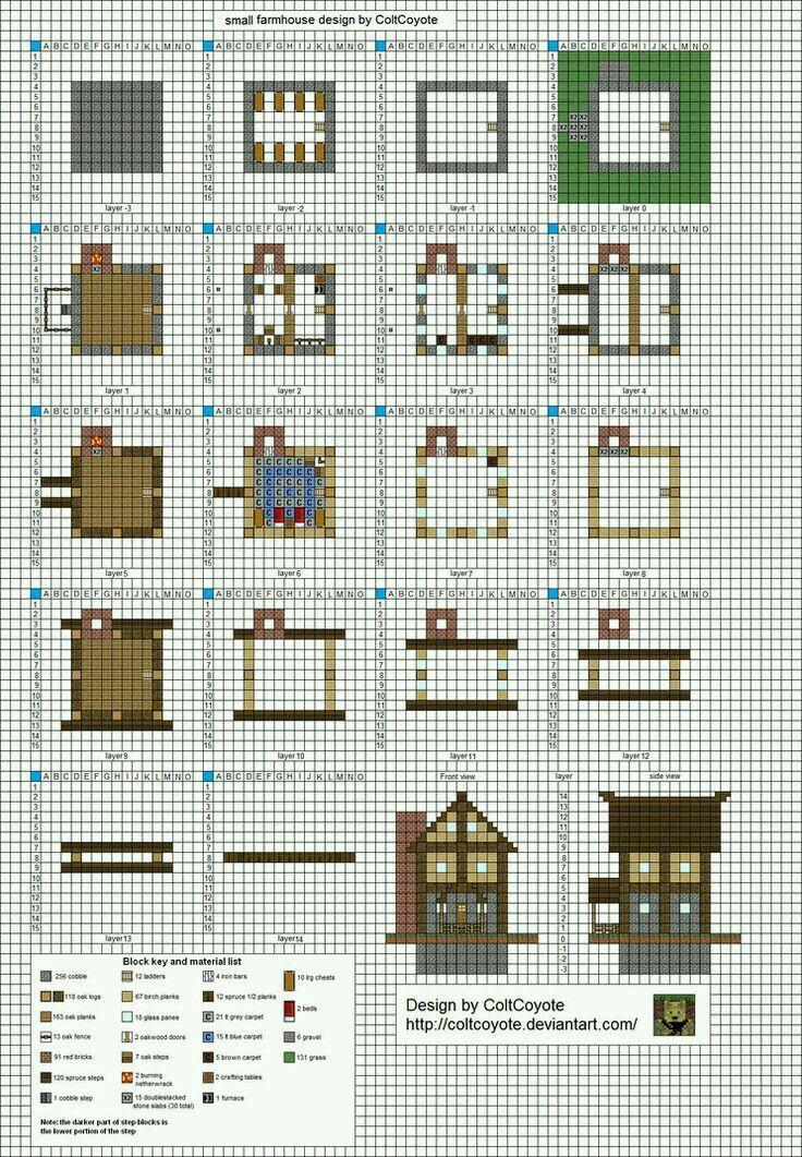 Маленькие и красивые дома в майнкрафте схемы постройки
