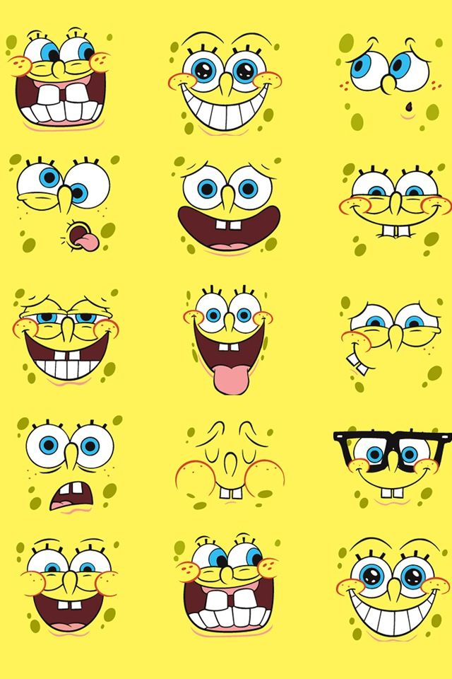 iPhone 5 Wallpaper Spongebob Faces