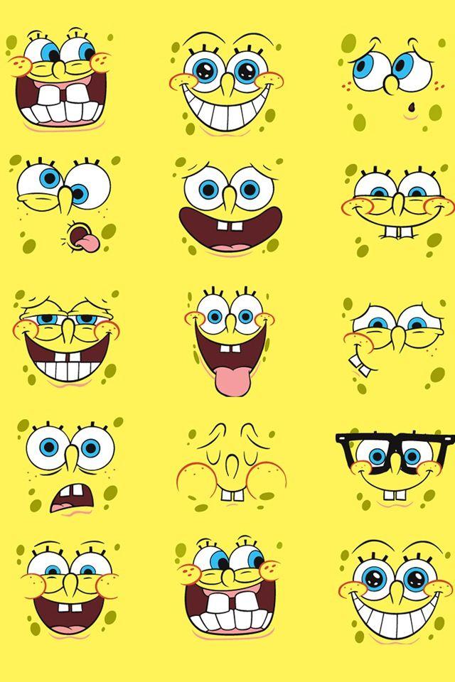 Character Design Wallpaper : Spongebob faces wallpaper skins for iphone ipod ipad