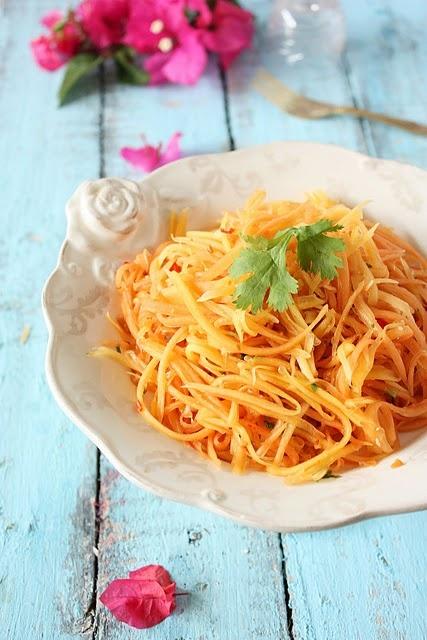 ...   Green papaya salad, Coconut muffins and Cardamom lassi recipes