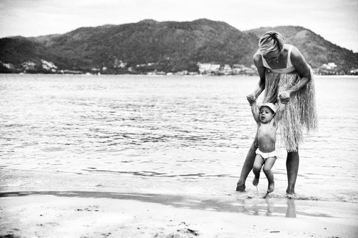 Sophie with her mother. Paradise Beach. Phuket Island. Thailand. November 2012. Photo by romanasanov.