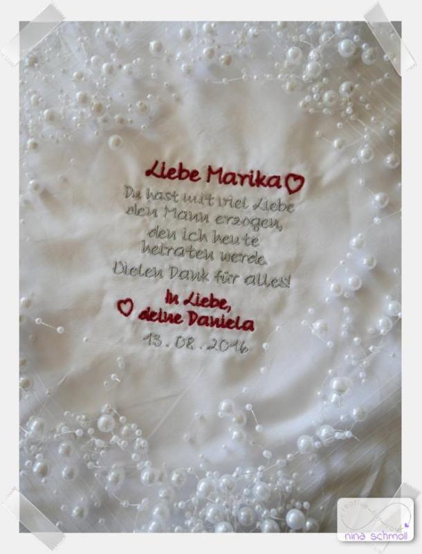 Besticktes Taschentuch Schwiegermutter | wedding | Wedding ...