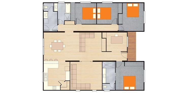 sanctuary modular home design render