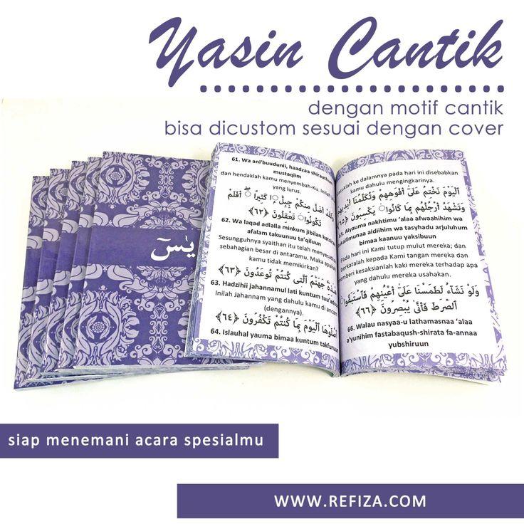 Buku Yasin cantik, siap menemani acara spesialmu. Hubungi customer ervice kami. BBM : 5AA4369C  WA : +6289602038805  TELP : (031)51503781