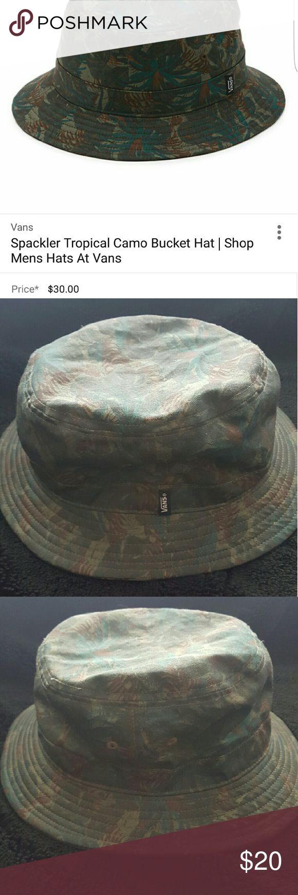 MEN'S Spackler Tropical Camo Bucket Hat Men's Spackler Tropical Camo Bucket Hat- originally $30. Good condition. Vans Accessories Hats