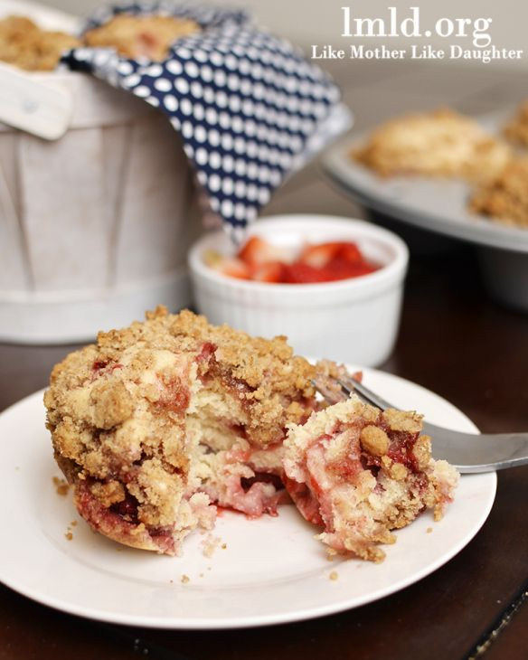 Strawberry muffins/ even with half whole wheat flour and an oats ...