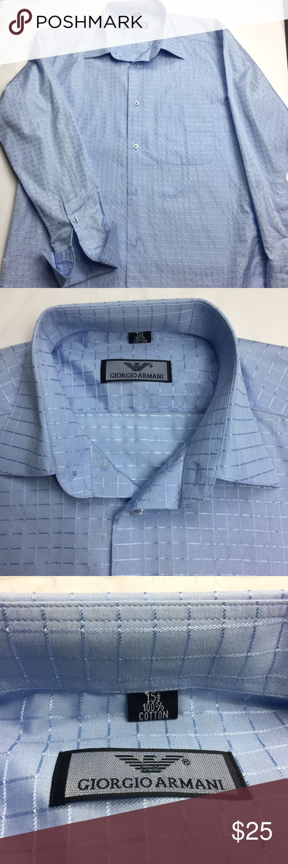 Giorgio Armani Men's Dress Shirt. 15 1/2. Giorgio Armani Men's dress shirt . Size 15 1/2. Lovely used Giorgio Armani Shirts Dress Shirts