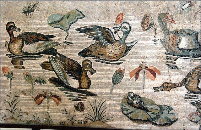 Mosaico con scena nilotica dalla Casa del Fauno di Pompei - Museo Arch. Naz. Napoli